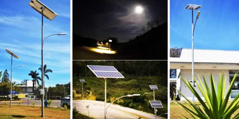 Postes de energia solar off-grid