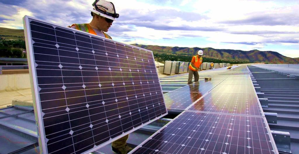instalação energia luz solar